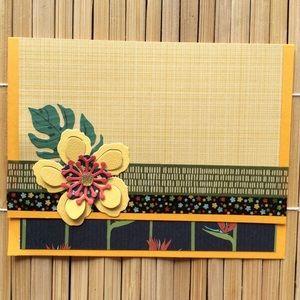 Handmade Floral Blank Greeting Card